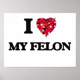 I Love My Felon Poster
