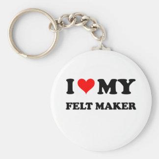 I Love My Felt Maker Keychains