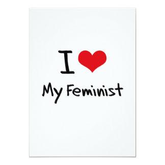 I Love My Feminist 5x7 Paper Invitation Card