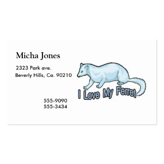 I Love My Ferret Business Card