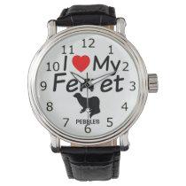 I Love My Ferret Wristwatch