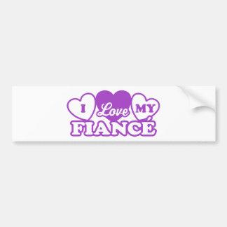 I Love My Fiance Bumper Sticker