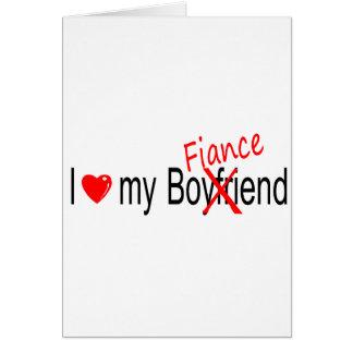 I Love My Fiance Card