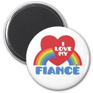 I Love My Fiance Refrigerator Magnet
