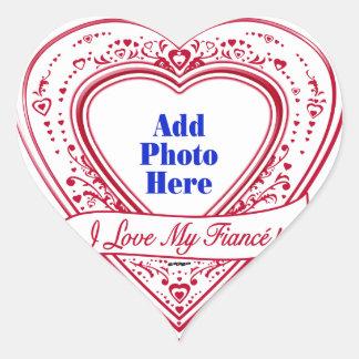 I Love My Fiancé! Photo Red Hearts Heart Sticker