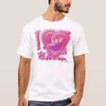 "I Love My Fiancé pink/purple - heart T-Shirt<br><div class=""desc"">I Love My Fiancé pink/purple - heart</div>"