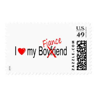 I Love My Fiance Postage Stamps
