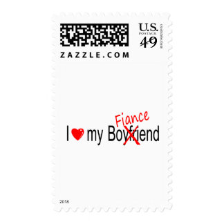 I Love My Fiance Postage Stamp