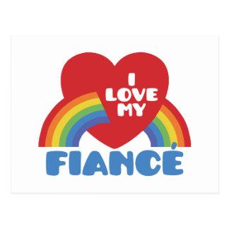 I Love My Fiance Postcard