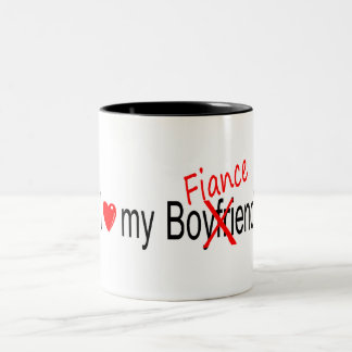 I Love My Fiance Two-Tone Coffee Mug