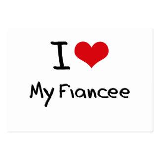 I Love My Fiancee Business Card Template