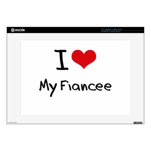 I Love My Fiancee Laptop Decals