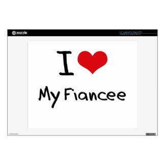 I Love My Fiancee Laptop Decal