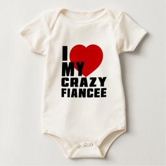 I LOVE MY FIANCÉE BABY BODYSUITS