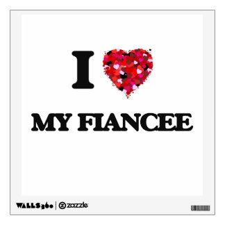 I Love My Fiancee Wall Decals