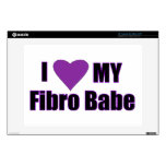 "I love my Fibro Babe 13"" Laptop Skin"