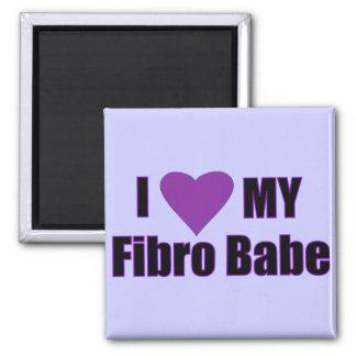 I love my Fibro Babe 2 Inch Square Magnet