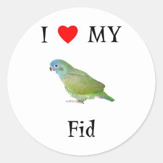I Love My Fid Classic Round Sticker