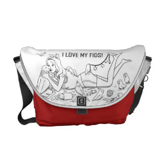 I love my fids courier bag