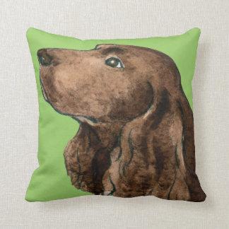 I Love my Field Spaniel Throw Pillow