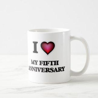 I Love My Fifth Anniversary Coffee Mug