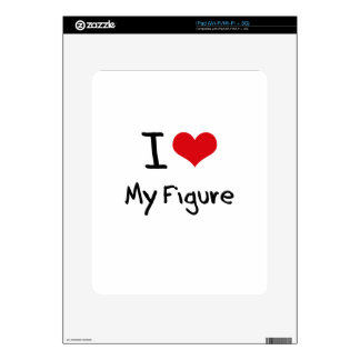 I Love My Figure Decal For The iPad