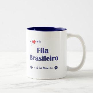 I Love My Fila Brasileiro (Male Dog) Coffee Mug