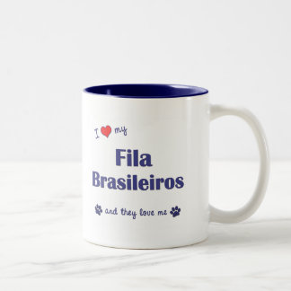 I Love My Fila Brasileiros (Multiple Dogs) Coffee Mug