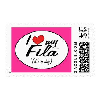 I Love My Fila (It's a Dog) Stamps