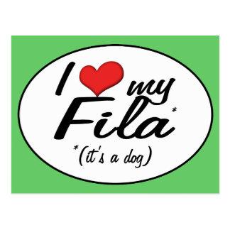 I Love My Fila (It's a Dog) Postcard