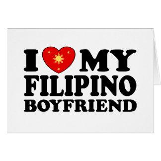 I Love My Filipino Boyfriend Card