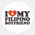 I Love My Filipino Boyfriend Classic Round Sticker
