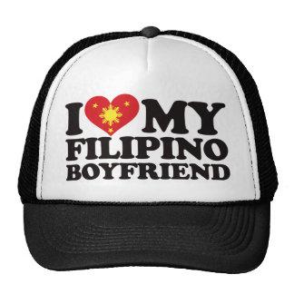 I Love My Filipino Boyfriend Hats
