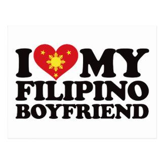 I Love My Filipino Boyfriend Post Card
