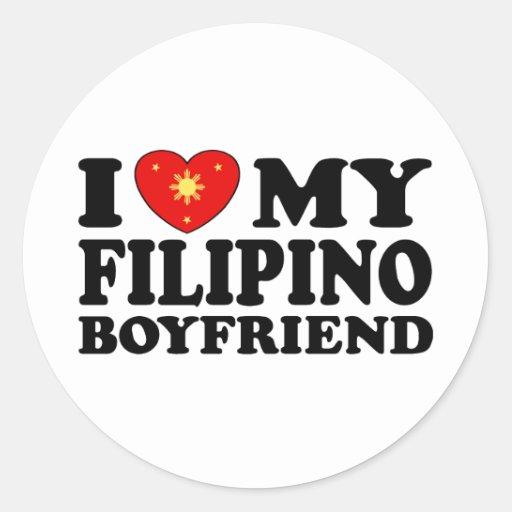 I Love My Filipino Boyfriend Stickers