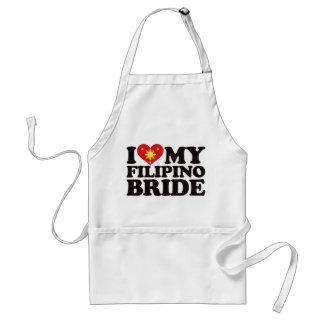 I Love My Filipino Bride Adult Apron