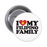 I Love My Filipino Family 2 Inch Round Button