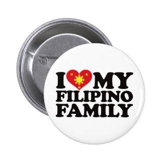 I Love My Filipino Family Button