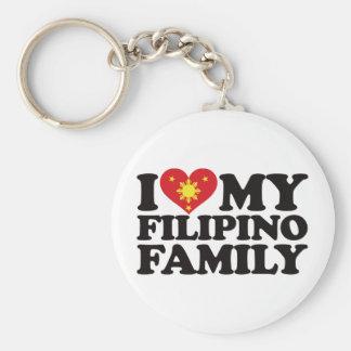 I Love My Filipino Family Keychain