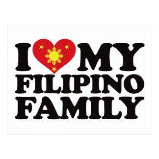 I Love My Filipino Family Postcard