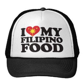I Love My Filipino Food Trucker Hat