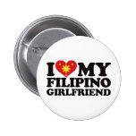 I Love My Filipino Girlfriend Button
