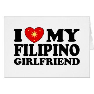 I Love My Filipino Girlfriend Card