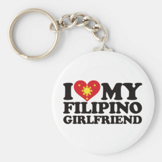 I Love My Filipino Girlfriend Keychain