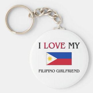 I Love My Filipino Girlfriend Keychain