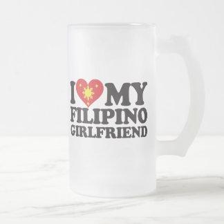 I Love My Filipino Girlfriend 16 Oz Frosted Glass Beer Mug