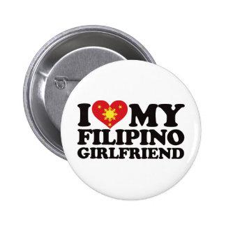 I Love My Filipino Girlfriend Pinback Button