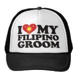 I Love My Filipino Groom Mesh Hats