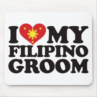 I Love My Filipino Groom Mouse Pad
