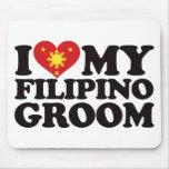 I Love My Filipino Groom Mouse Pads